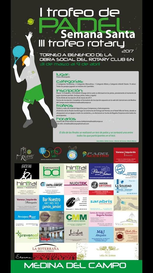 I Torneo de pádel Semana Santa - III Trofeo Rotary (Medina del Campo)
