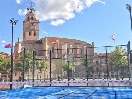 Pista para el Torneo de Pádel que se celebrará en Medina del Campo del 21 al 30 de julio