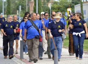 Los peregrinos, a su llegada a Medina del Campo. :: F. J.