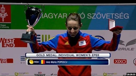 La campeona Olímpica Ana Maria Popescu- Branza, competirá hoy en el Torneo Nacional de espada con el club El Duque.