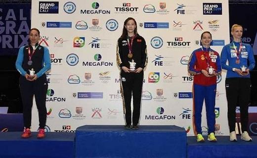 Ana Maria Popescu, en lo alto del podio